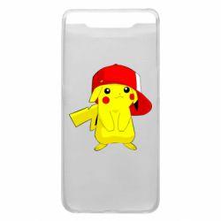 Чехол для Samsung A80 Pikachu in a cap