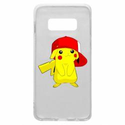 Чехол для Samsung S10e Pikachu in a cap