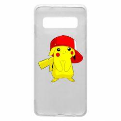 Чехол для Samsung S10 Pikachu in a cap