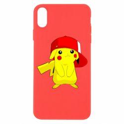 Чехол для iPhone X/Xs Pikachu in a cap