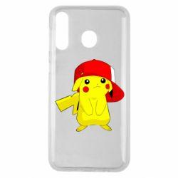 Чехол для Samsung M30 Pikachu in a cap