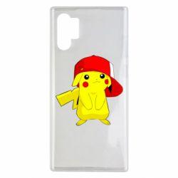 Чехол для Samsung Note 10 Plus Pikachu in a cap
