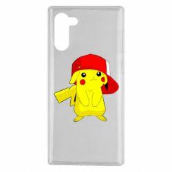 Чехол для Samsung Note 10 Pikachu in a cap