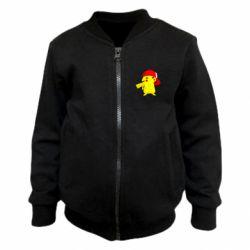 Детский бомбер Pikachu in a cap