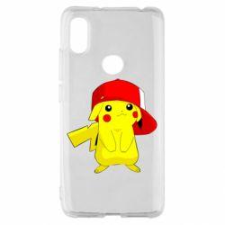 Чехол для Xiaomi Redmi S2 Pikachu in a cap