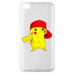 Чехол для Xiaomi Redmi Go Pikachu in a cap