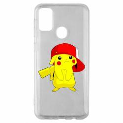 Чехол для Samsung M30s Pikachu in a cap