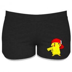 Женские шорты Pikachu in a cap