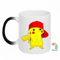 Кружка-хамелеон Pikachu in a cap