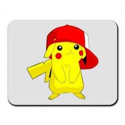 Коврик для мыши Pikachu in a cap
