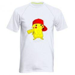 Мужская спортивная футболка Pikachu in a cap