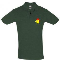 Мужская футболка поло Pikachu in a cap
