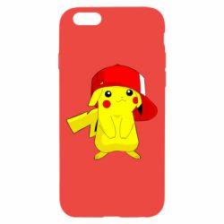 Чехол для iPhone 6/6S Pikachu in a cap