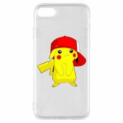 Чехол для iPhone 7 Pikachu in a cap