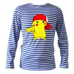 Тельняшка с длинным рукавом Pikachu in a cap