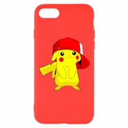 Чехол для iPhone 8 Pikachu in a cap