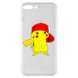 Чехол для iPhone 8 Plus Pikachu in a cap