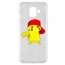 Чехол для Samsung A6 2018 Pikachu in a cap