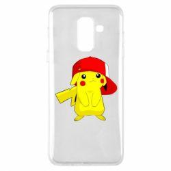 Чехол для Samsung A6+ 2018 Pikachu in a cap