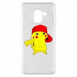 Чехол для Samsung A8 2018 Pikachu in a cap
