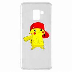 Чехол для Samsung A8+ 2018 Pikachu in a cap