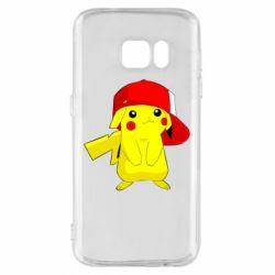 Чехол для Samsung S7 Pikachu in a cap