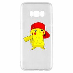 Чехол для Samsung S8 Pikachu in a cap