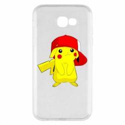 Чехол для Samsung A7 2017 Pikachu in a cap
