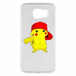Чехол для Samsung S6 Pikachu in a cap