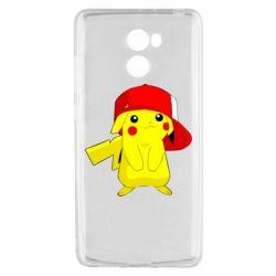 Чехол для Xiaomi Redmi 4 Pikachu in a cap
