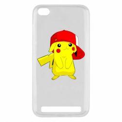 Чехол для Xiaomi Redmi 5a Pikachu in a cap
