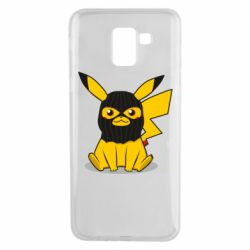 Чохол для Samsung J6 Pikachu in balaclava
