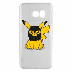 Чохол для Samsung S6 EDGE Pikachu in balaclava