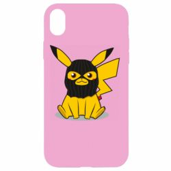 Чохол для iPhone XR Pikachu in balaclava