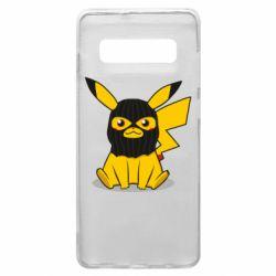 Чехол для Samsung S10+ Pikachu in balaclava