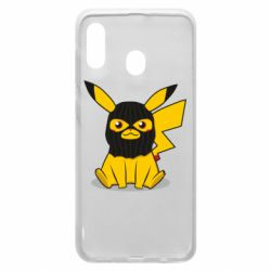 Чохол для Samsung A20 Pikachu in balaclava