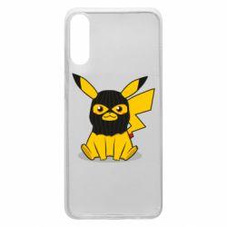 Чохол для Samsung A70 Pikachu in balaclava