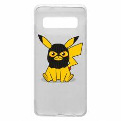 Чехол для Samsung S10 Pikachu in balaclava