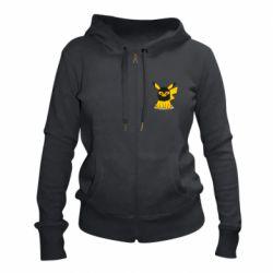 Жіноча толстовка на блискавці Pikachu in balaclava