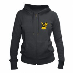 Женская толстовка на молнии Pikachu in balaclava