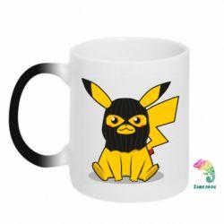 Кружка-хамелеон Pikachu in balaclava