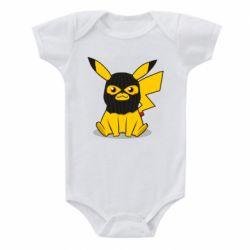 Детский бодик Pikachu in balaclava