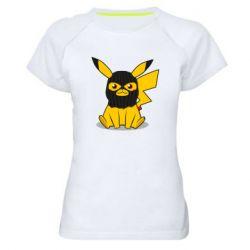 Жіноча спортивна футболка Pikachu in balaclava