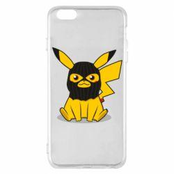 Чехол для iPhone 6 Plus/6S Plus Pikachu in balaclava