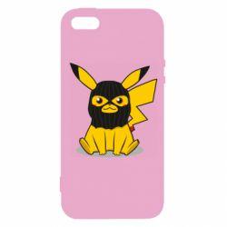Чохол для iphone 5/5S/SE Pikachu in balaclava