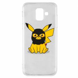 Чохол для Samsung A6 2018 Pikachu in balaclava
