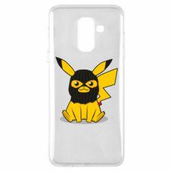 Чохол для Samsung A6+ 2018 Pikachu in balaclava