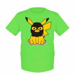 Дитяча футболка Pikachu in balaclava