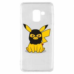 Чохол для Samsung A8 2018 Pikachu in balaclava