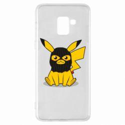 Чохол для Samsung A8+ 2018 Pikachu in balaclava